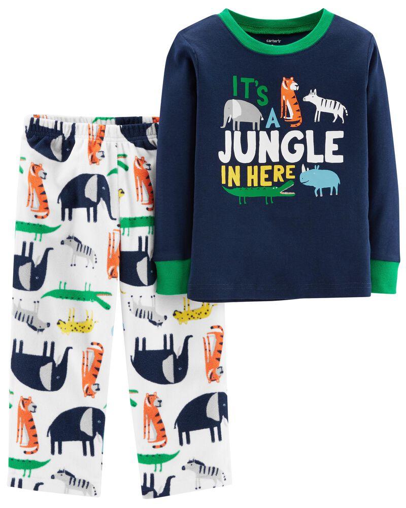 Pijama Infantil Fleece 2 peças Jungle
