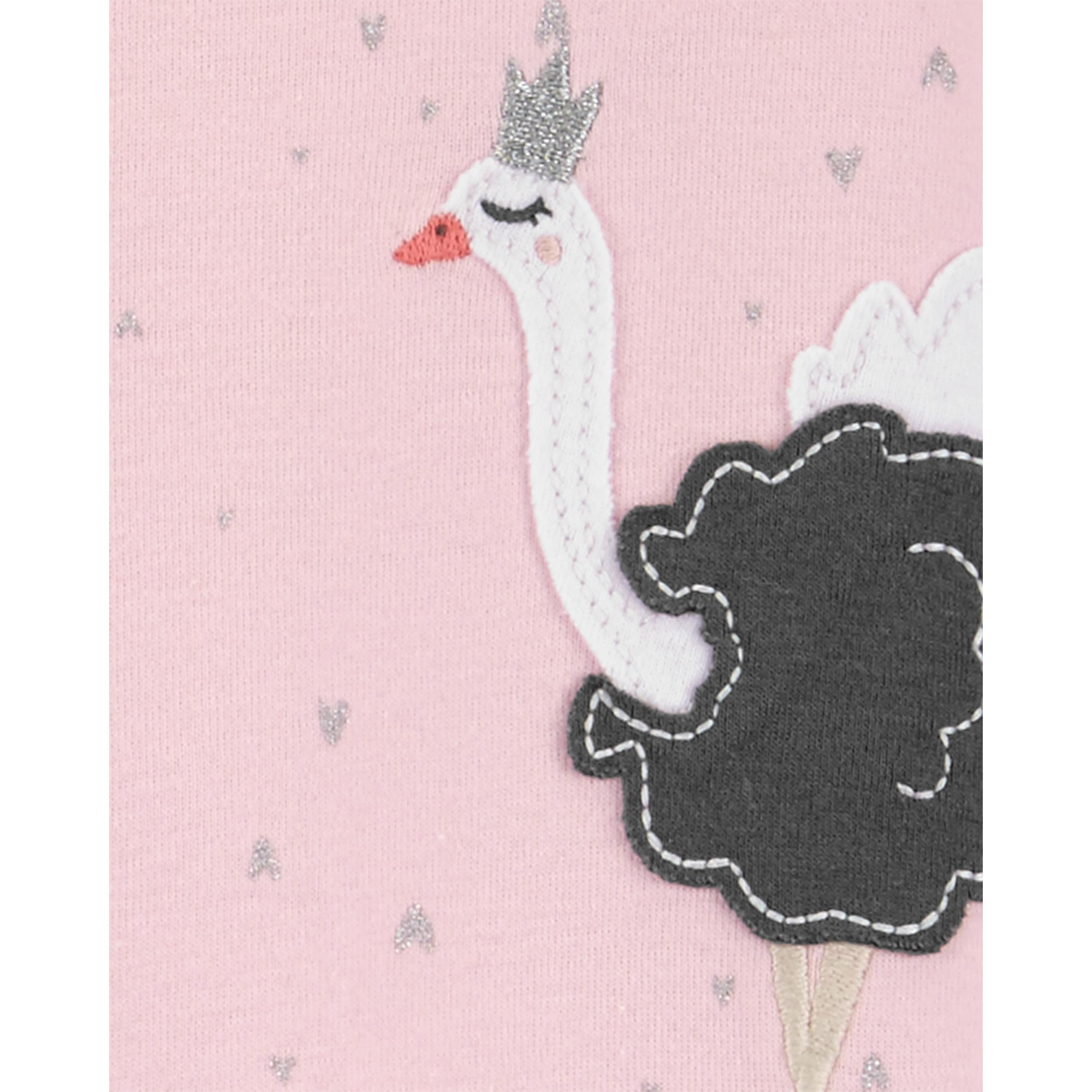 Pijama para crianças avestruz com pé em Malha