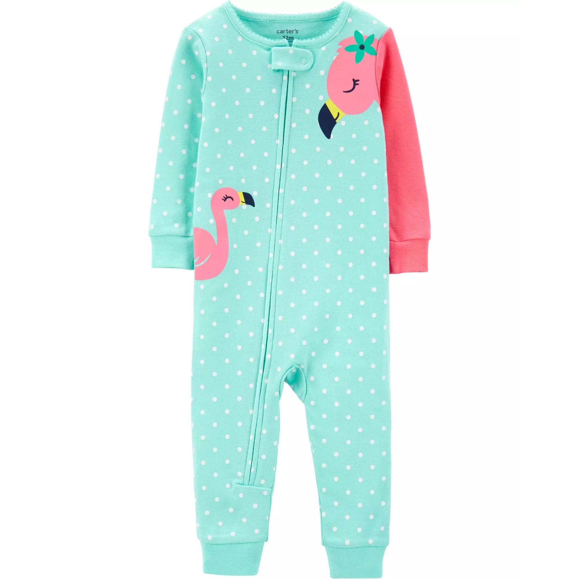Pijama para crianças flamingo sem pé - Malha
