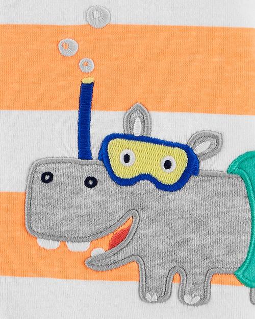 Romper Carters Hipopótamo