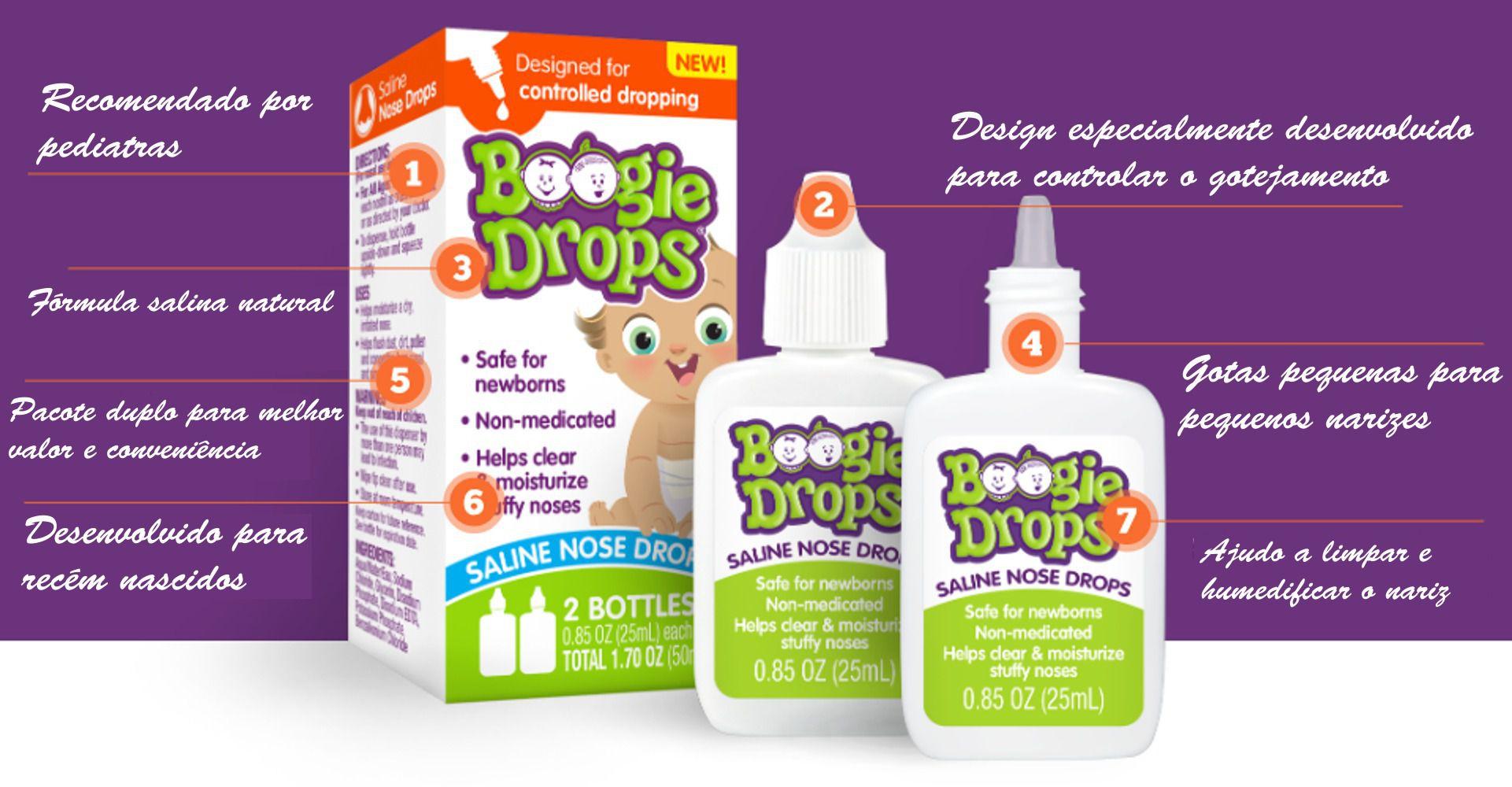 Solução Salina Boogie - Boogie Drops Saline Nose Drops