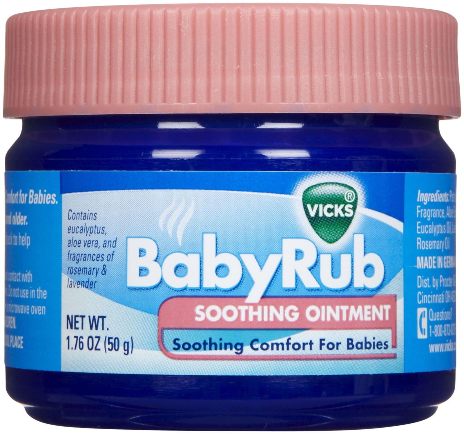 Vicks Babyrub Soothing Ointment 50g Importado
