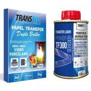 Papel Transfer Laser Duplo Brilho 90g + TF300