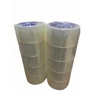 Kit com 10 Fitas Adesivas 45mm X 45 Metros Transparente Lacre Bem