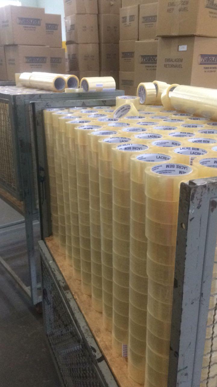 Caixa com 100 Fitas Adesivas Transparente 45mm X 45 metros