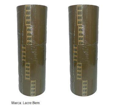 Caixa com 80 Fitas Adesivas Marrom 45mm X 100 metros
