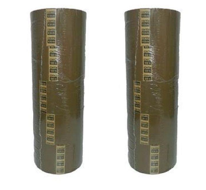Kit com 15 Fitas Adesivas 45mm X 45 Metros Marrom Lacre Bem