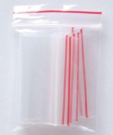 Kit Com 500 Saquinhos Zip Lock: 5x8 cm e 6x10 cm