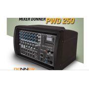 Amplificador Potência Mesa Cabeçote Donner Pwm 250 c/ Efeito - 250 W