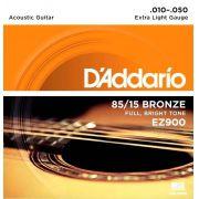 Corda p/ Violão D'Addario Aço Bronze 85/15 .010 - EZ900-B