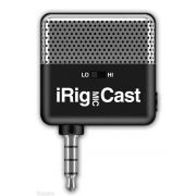Interface IRIG Mic Cast IK Multimedia - Microfone Ultracompacto para Dispositivos Móveis