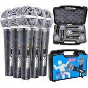 Kit de Microfone de Mão CSR HT48A-5 Dinâmico - Com 5 Microfones