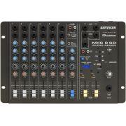 Mesa De Som Wattsom MXS 8 SD com USB Ciclotron Stereo 8 Canais - Audio Mixer