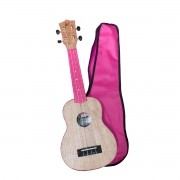 Ukulele Soprano 21 ABS Tampo Tipo Flamed Okume Pink Rosa Com Capa! - Color Series Winner