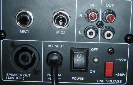 Caixa Amplificada CSR 2500A, c/ Entrada USB, BT, Efeito Echo, 100W RMS, Bivolt  - TranSom Áudio e Música