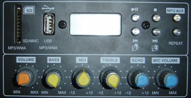 Caixa Amplificada CSR 3000A, c/ Entradas USB/SD, Efeito Echo, 200W RMS  - TranSom Áudio e Música