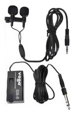 Microfone Lapela Yoga EM 6  - Transa Som Instrumentos Musicais