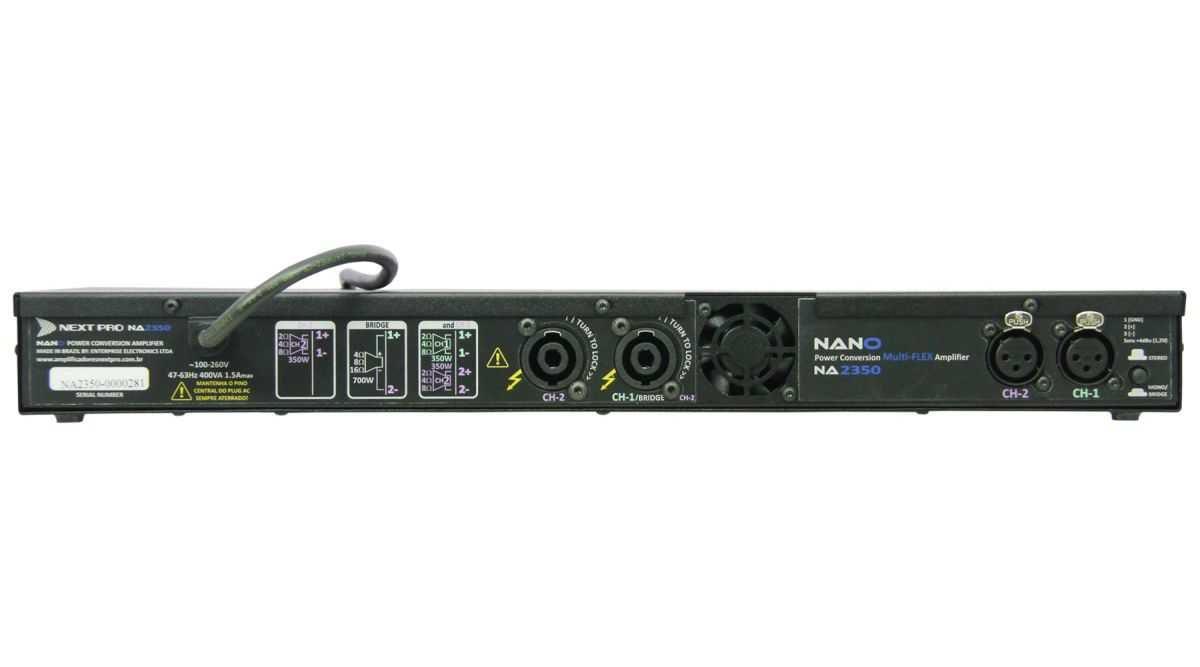 Amplificador de Potência 700W Nano NA-2350 - Next Pro  - TranSom Áudio e Música