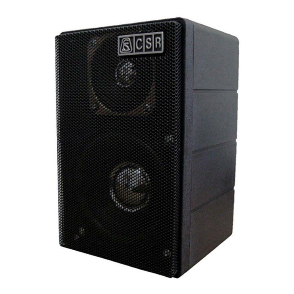 Caixa Acústica CSR 75M 40W para Som Ambiente (Unidade) - Preta  - TranSom Áudio e Música