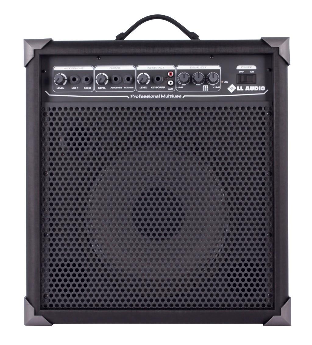 Caixa Amplificada Multiuso Ll Audio LX100 25W Rms Entrada Para Violão Guitarra Microfone  - TranSom Áudio e Música