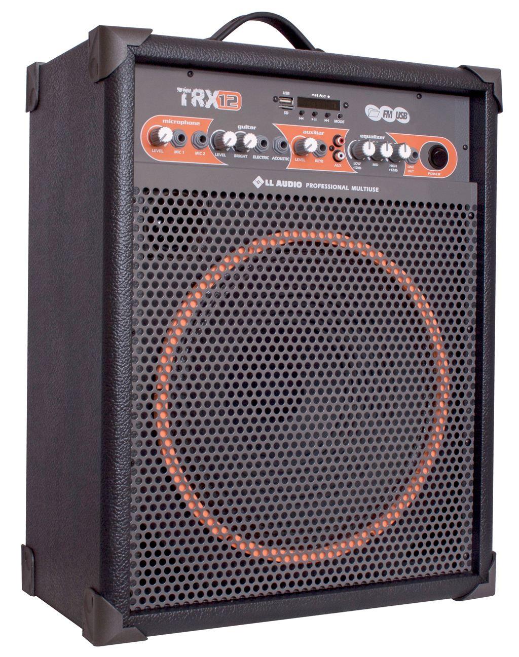 Caixa De Som Amplificada Multiuso LL Audio Trx 12 – 80 W Rms  - TranSom Áudio e Música