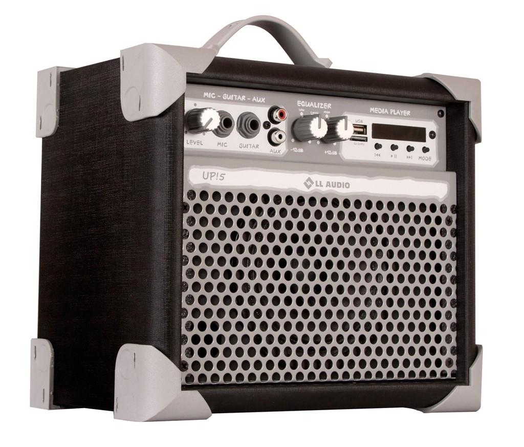 Caixa de Som Multiuso Amplificada LL Audio UP! 5 Bluetooth USB FM Preta  - TranSom Áudio e Música