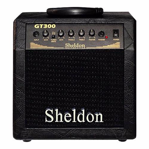 Cubo / Caixa Amplificada / Amplificador 30W Rms  Para Guitarra Sheldon Gt300 com Distorção  - TranSom Áudio e Música