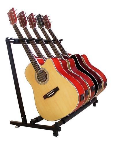 Estante Suporte Smart Para 5 Instrumentos Violão Guitarra Baixo GS-05  - TranSom Áudio e Música