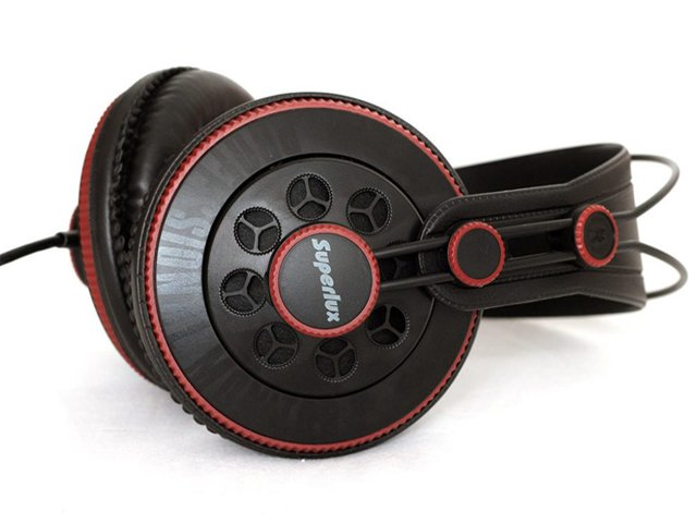 Fone de Ouvido Superlux HD681 Profissional Monitor de Estúdio Semi Aberto   - TranSom Áudio e Música