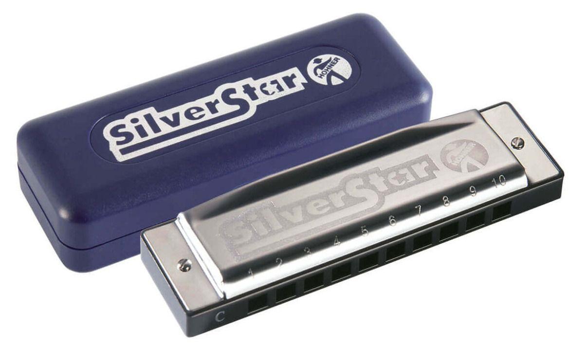 Gaita Hohner Harmônica Silver Star 504/20 em C (Dó)  - TranSom Áudio e Música