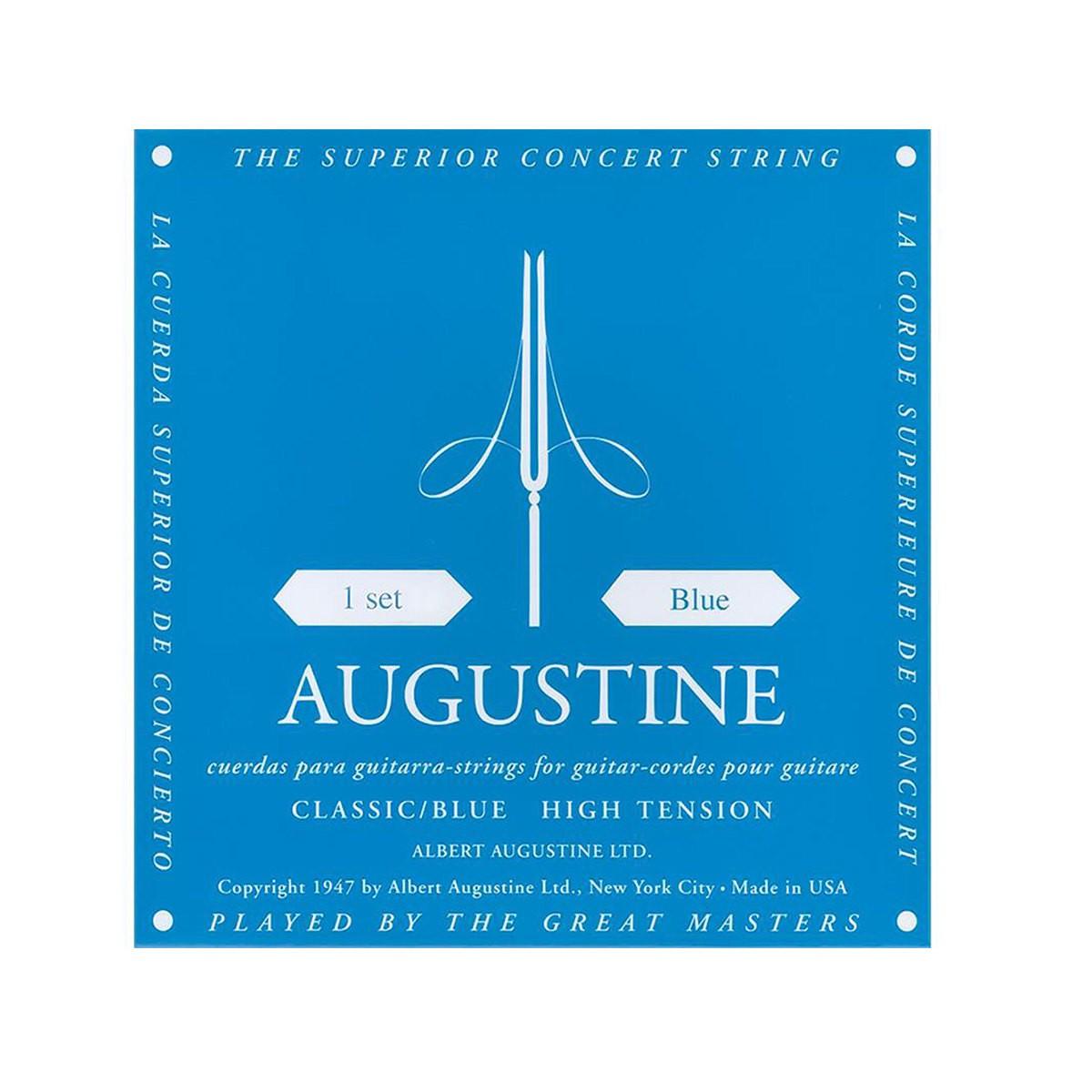 Jogo de Corda Encordoamento Augustine Blue Azul High Tension Tensão Alta  - TranSom Áudio e Música