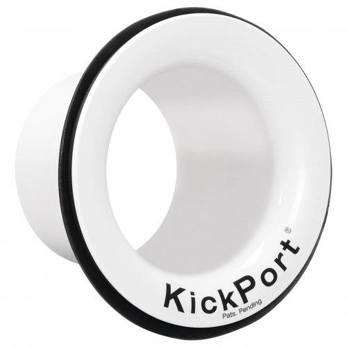 KickPort Potencializador de Bumbo e Molde (Branco) Aumente o Grave e Punch do Bumbo  - TranSom Áudio e Música