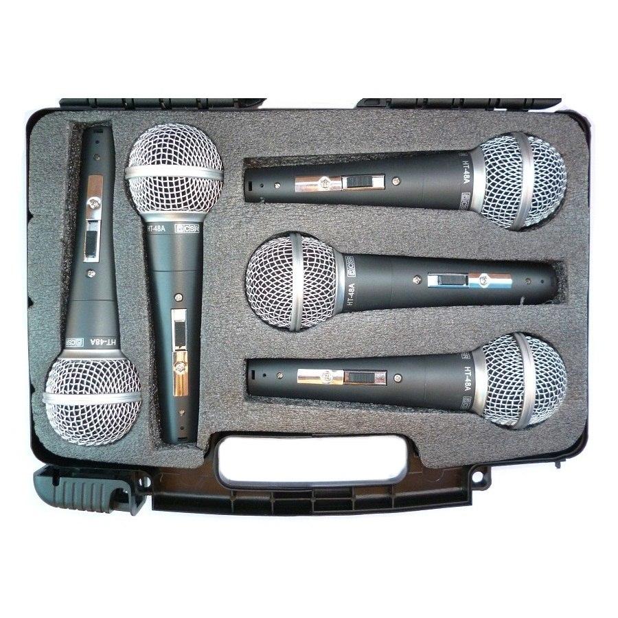 Kit de Microfone CSR HT48 5, c/ 5 Microfones  - Transa Som Instrumentos Musicais