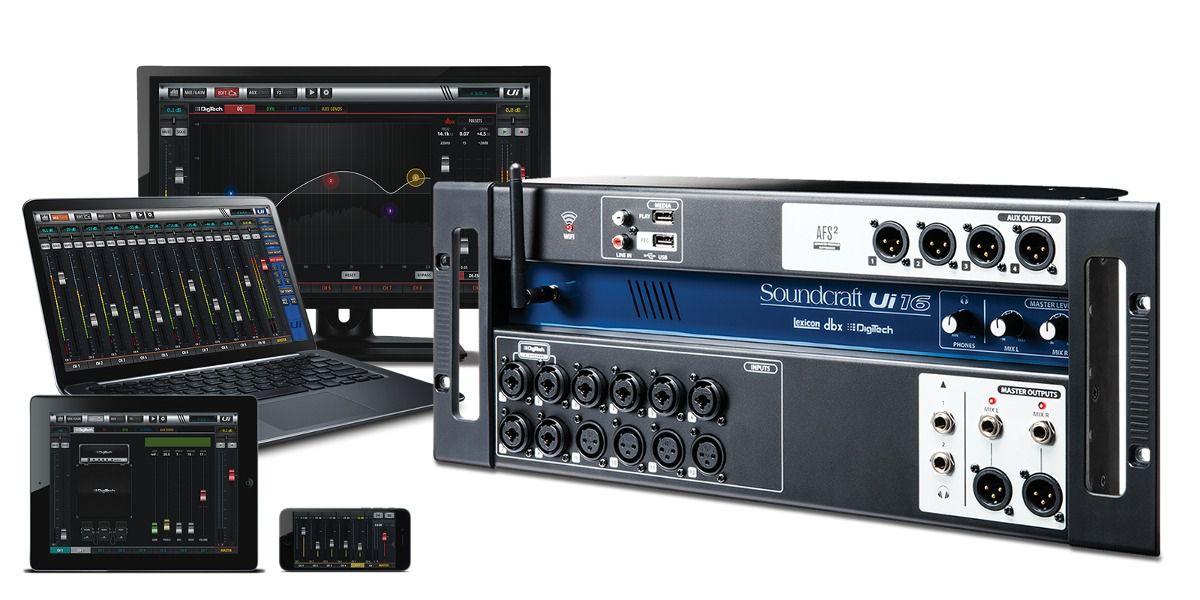 Mesa de Som Digital SoundCraft UI16  - TranSom Áudio e Música