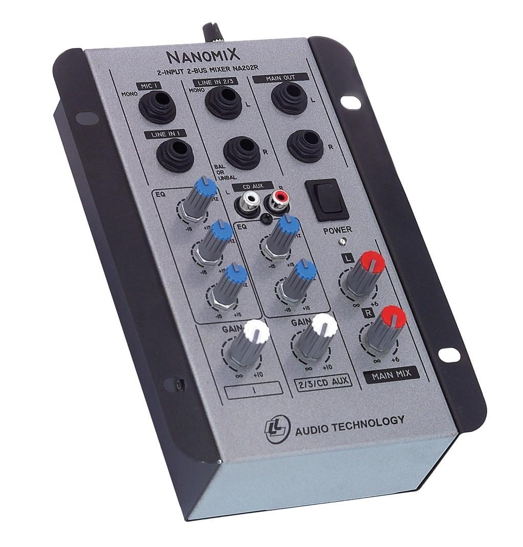 Mesa De Som Mixer Nanomix De 2 Canais Na202r Ll Áudio  - TranSom Áudio e Música