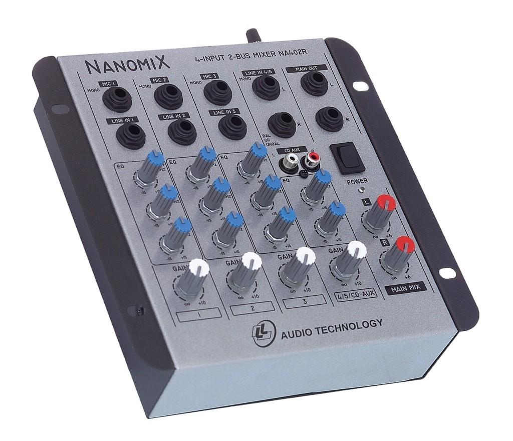 Mesa De Som Mixer Nanomix De 4 Canais Na402r Ll Áudio  - TranSom Áudio e Música
