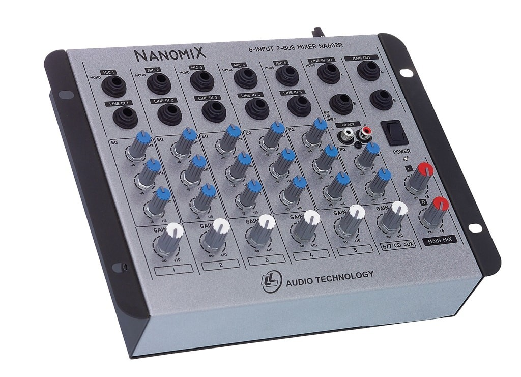 Mesa De Som Mixer NCA Nanomix De 6 Canais Na602r Ll Áudio  - TranSom Áudio e Música