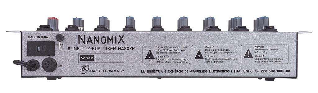 Mesa De Som Mixer NCA Nanomix De 8 Canais Na802r Ll Áudio  - TranSom Áudio e Música