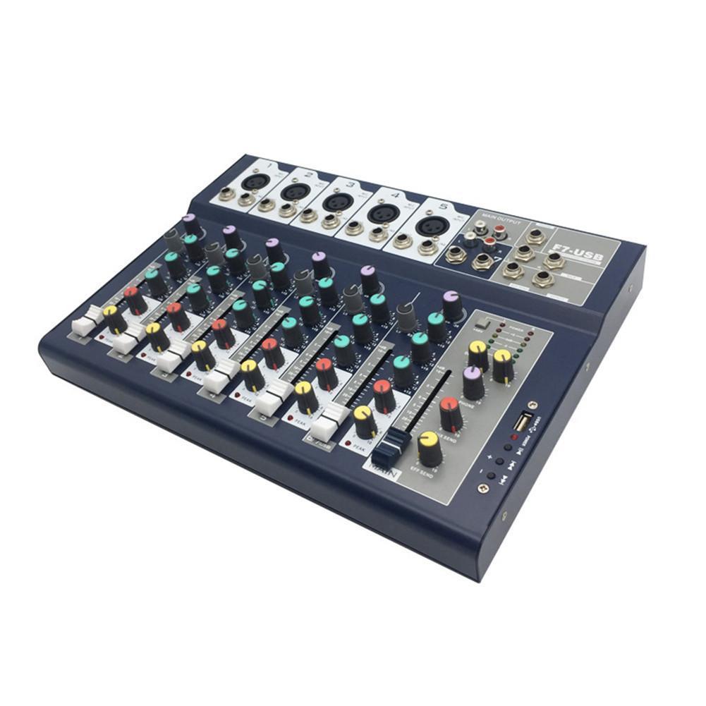 Mesa de Som - Mixer Profissional Jiaxi F7USB - 7 Canais  - TranSom Áudio e Música