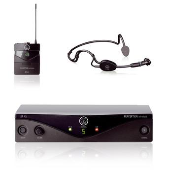 Microfone Auricular Sem Fio AKG PW 45 Sport - C3  - TranSom Áudio e Música