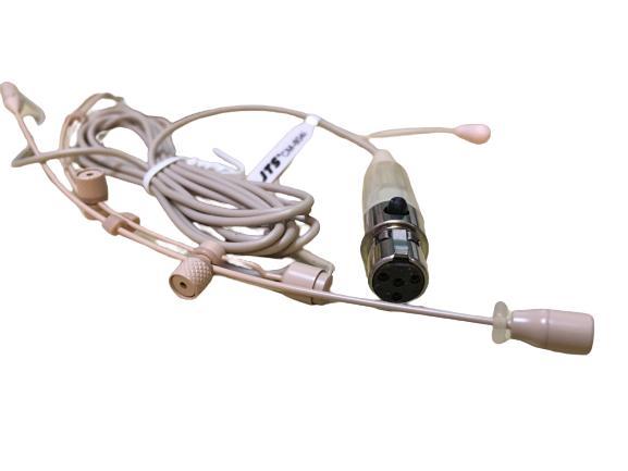 Microfone JTS Bi-auricular CM-804iF - Com Conector Mini XLR 4 pinos  - TranSom Áudio e Música