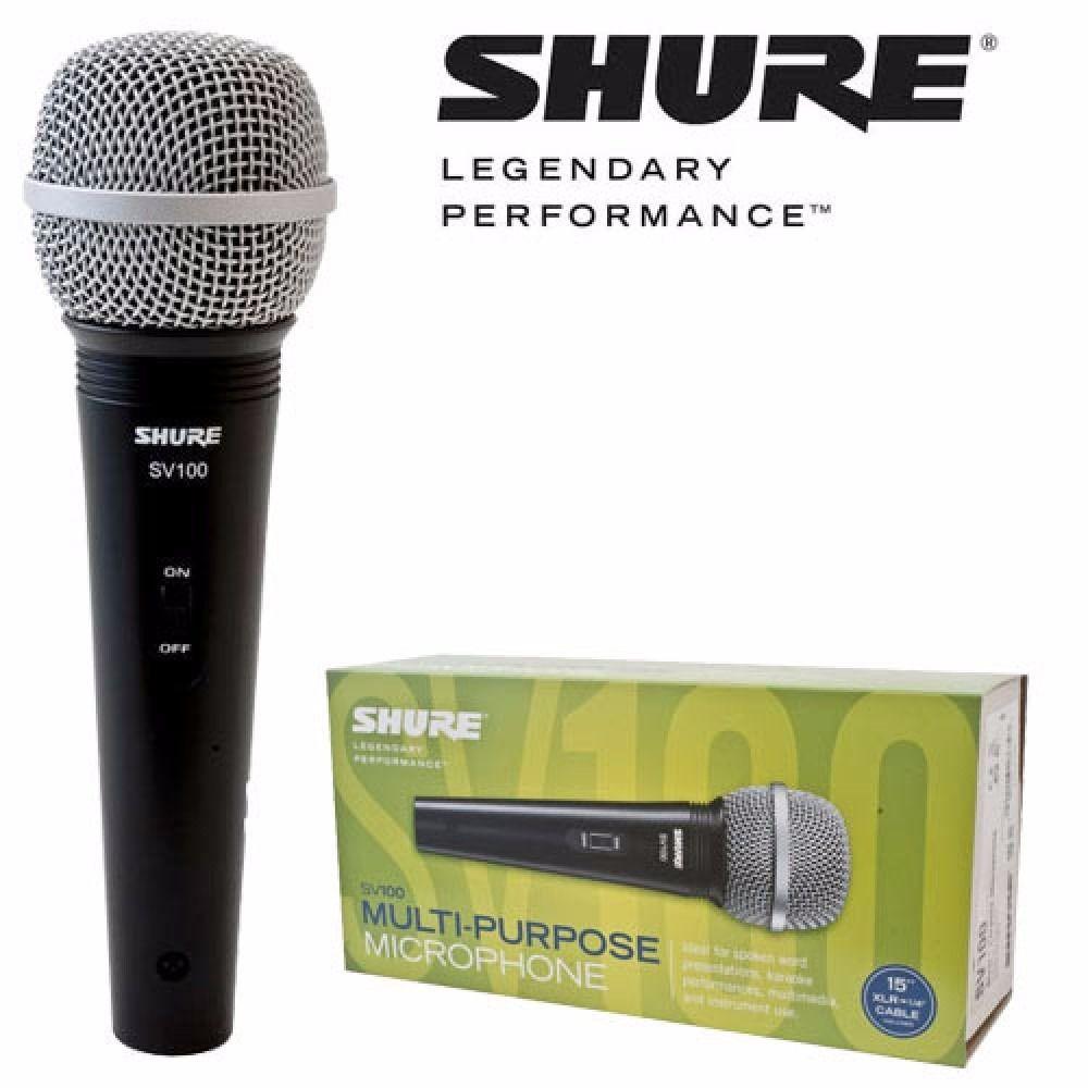 Microfone Shure SV 100  - TranSom Áudio e Música