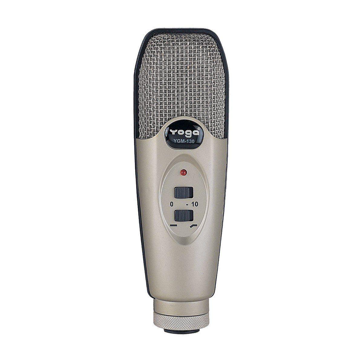 Microfone YOGA YGM-130 com Fio para Estúdio  - TranSom Áudio e Música