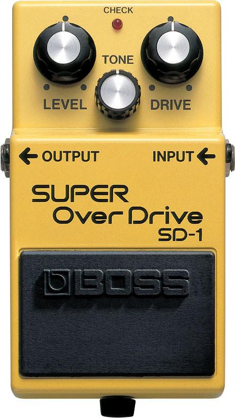 Pedal Boss Super Overdrive SD-1   - TranSom Áudio e Música