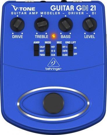 Pedal para Guitarra Behringer V-Tone Driver DI GDI21   - TranSom Áudio e Música