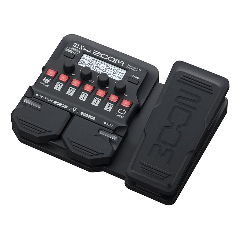 Pedaleira ZOOM G1X Four - Guitar Multi-Effects Processor - TranSom Áudio e Música