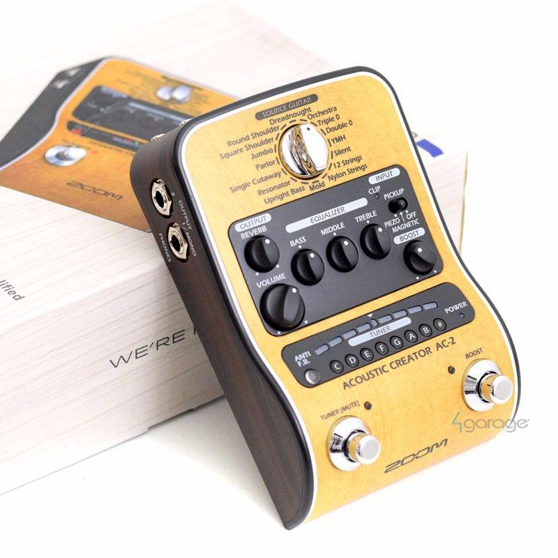 Pedaleira ZOOM AC-2 Acoustic Creator para Violão  - TranSom Áudio e Música