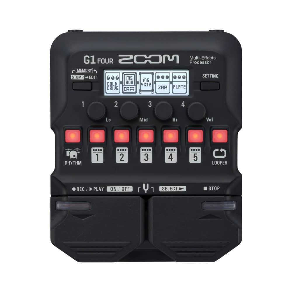 Pedaleira ZOOM G1 Four - Guitar Multi-Effects Processor  - TranSom Áudio e Música