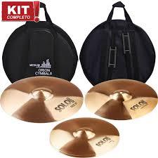 """kit de Pratos ORION Solo Pro 14""""16""""20""""   - TranSom Áudio e Música"""
