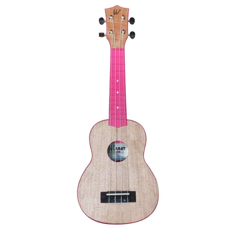 Ukulele Soprano 21 ABS Tampo Tipo Flamed Okume Pink Rosa Com Capa! - Color Series Winner  - TranSom Áudio e Música